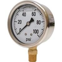 0-100 PSI Liquid Filled Pressure Gauge