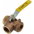 "1-1/2"" Bronze 3-Way Ball Valve"