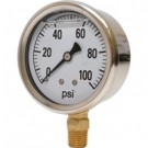 0-100 PSI Liquid Filled Pressure Gauge