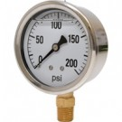 0-200 PSI Liquid Filled Pressure Gauge