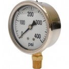 0-400 PSI Liquid Filled Pressure Gauge
