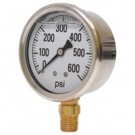 0-600 PSI Liquid Filled Pressure Gauge